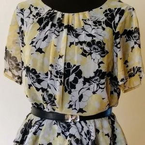 Shelby and Palmer Floral Peplum Dress